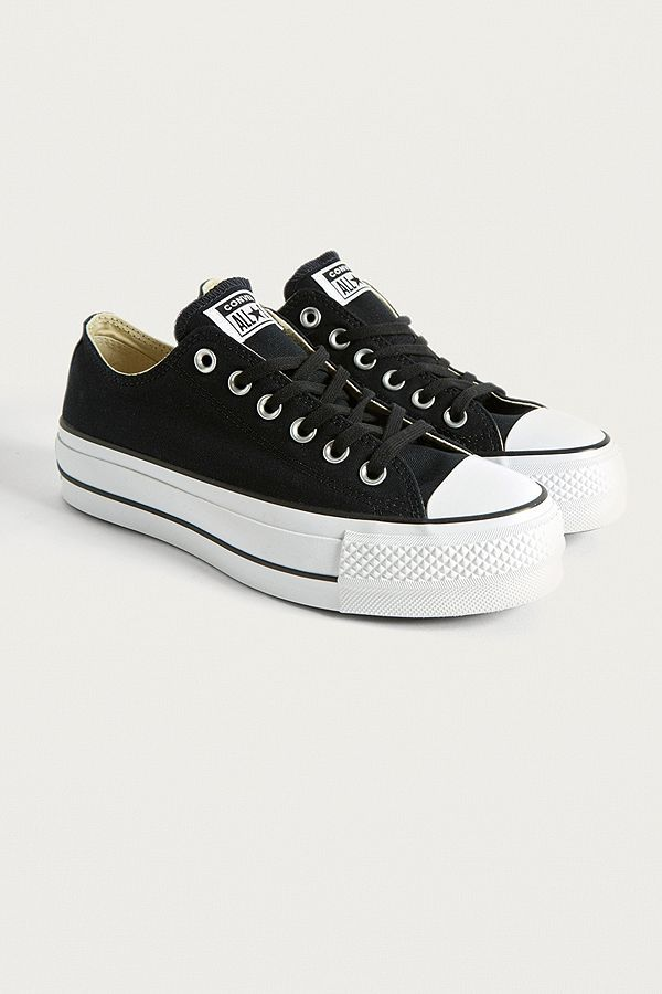 Slide View  2  Converse Chuck Taylor All Star Lift Black Platform Leather  Trainers 5f52247ff