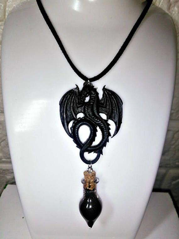Etsy httpsetsyukshopkrazykirstyb 46 black blood vial dragon choker necklace black blood vial mozeypictures Image collections