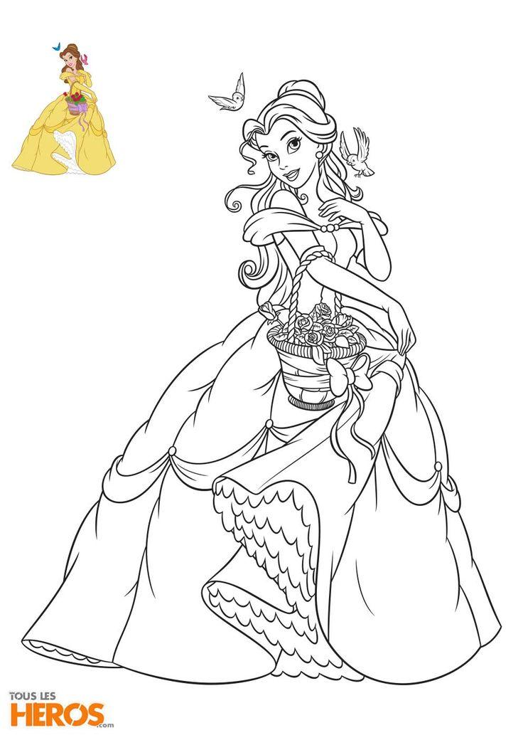 Les 25 meilleures id es de la cat gorie coloriage princesse sur pinterest feuilles colorier - Coloriage disney princesse ...