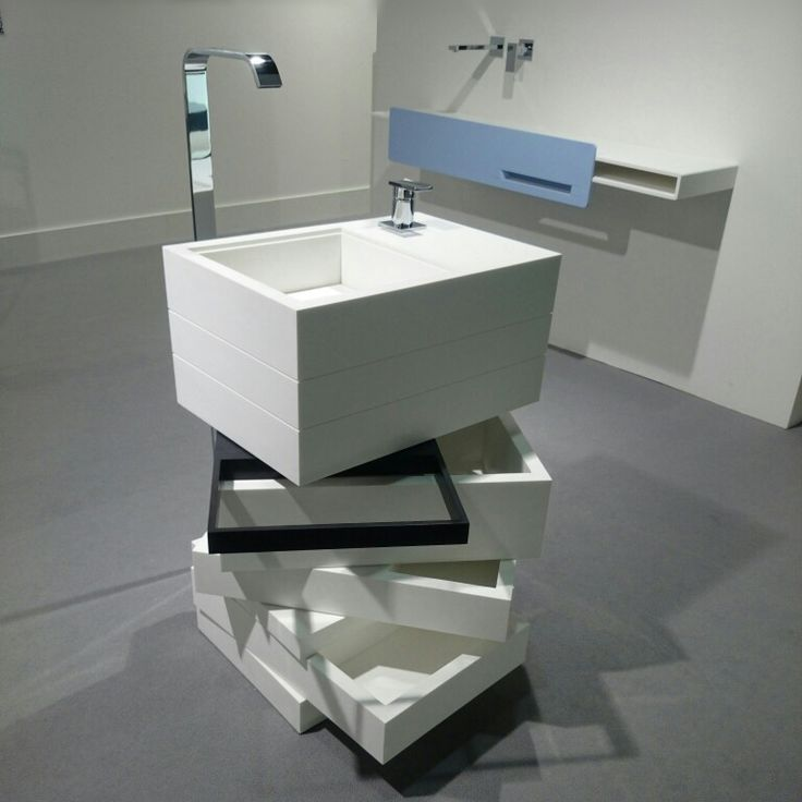 MyBath Levels washbasin presented during ISH Frankfurt Messe 2015  www.mybath.pl  #mybath #corian #coriandesign #interiordesign #bathroom #bathroomdesign