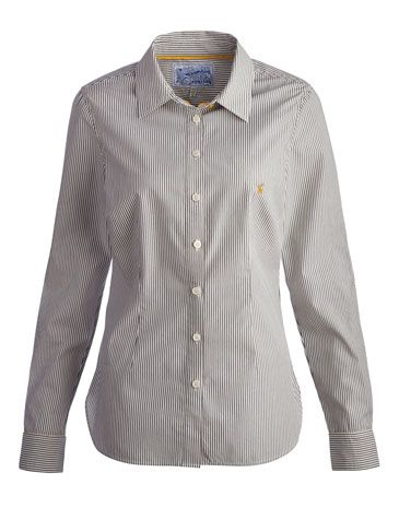 Joules KINGSTON Womens Classic Shirt, Navstrp. Our favourite shirt is back in a stunning selection of prints. Steeped in detail from the collar to the cuffs – just look for the hidden ditsy print – and crafted in crisp cotton poplin in that feels as good as it looks. Finished with perfectly placed dar