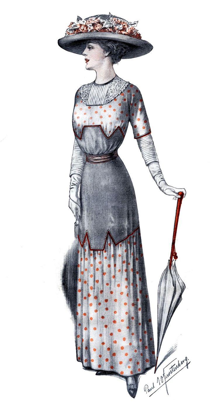 Edwardian Fashion Image - Downton Style - The Graphics Fairy