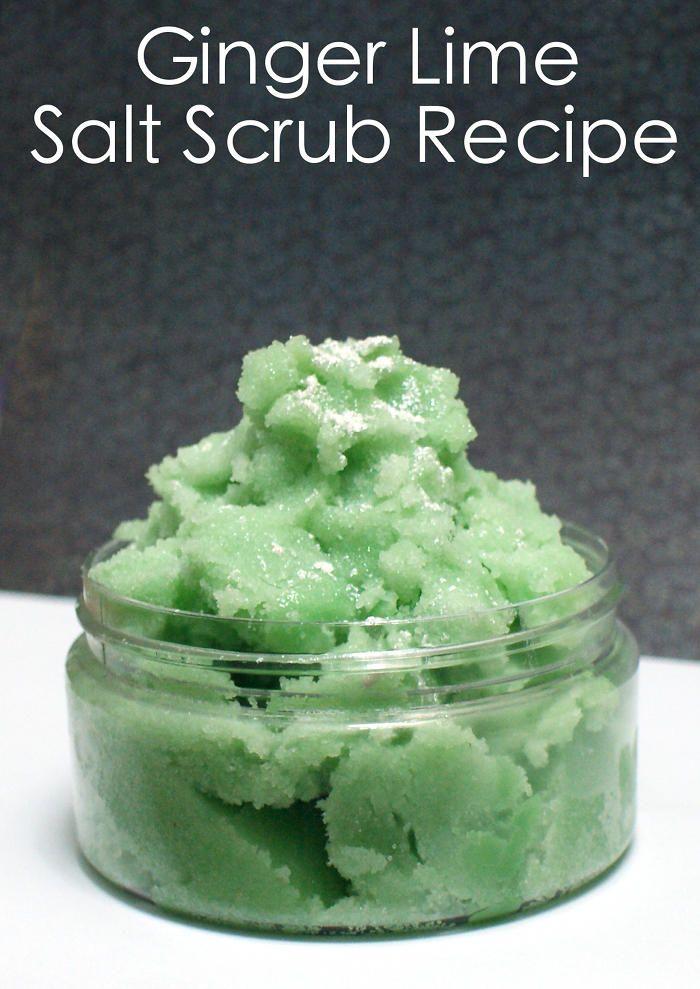 DIY Ginger Lime Homemade Salt Scrub Recipe