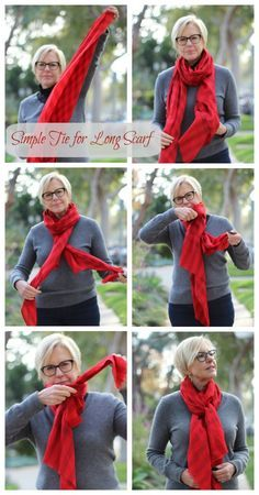 L'Écharpe Rouge - tie for long scarf.