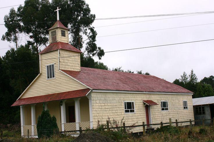 Iglesia. Isla de Chiloé.