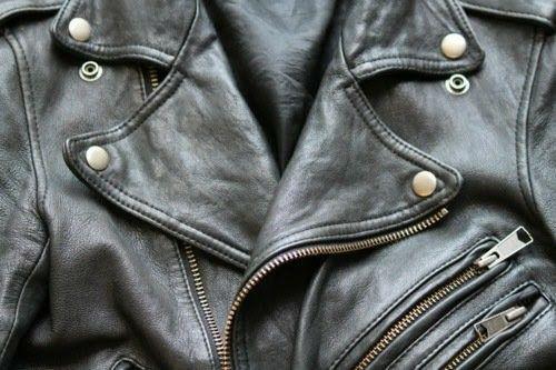 {leather jacket}