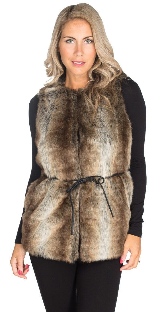 Icebreaker Faux Fur Vest is super soft vest with silky lining. It's perfect for layering with your fav tops and sweaters, and is the ultimate in luxe pieces for those chillier days. With a hook front closure, pockets, and removable faux leather tie to amp up the chic factor and give a flattering fit! $69.00 www.silvericing.com/sheelah