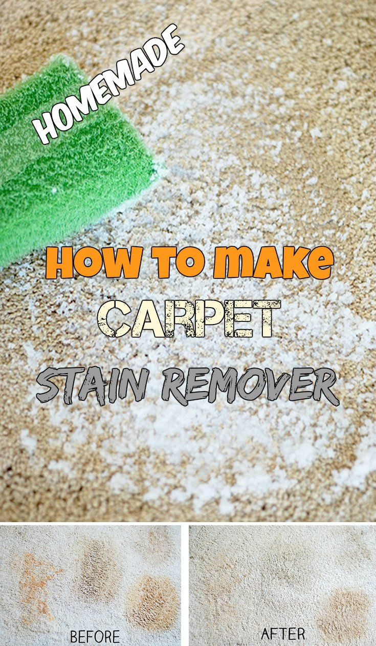 Learn how to make a carpet stain remover.