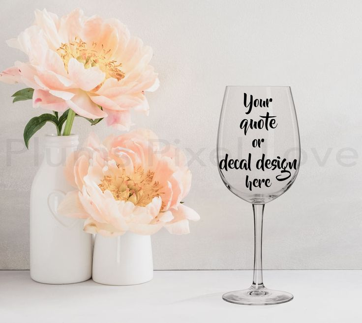 Wine Glass Mockup, Styled Stock wine glass Image, Mock up wine glass for Decals, stickers or engraving, Digital file, mock-up by plumspixellove on Etsy