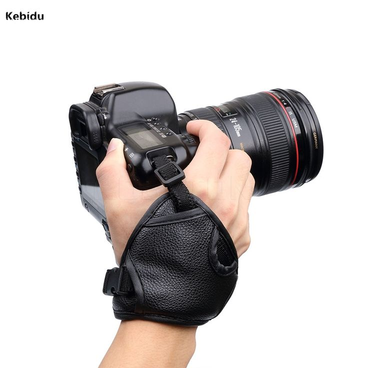 New Black PU Leather SLR/DSLR Camera Leather Soft Wrist Hand Strap Grip Belt for Canon for Nikon for Sony //Price: $9.95 & FREE Shipping //     #tech #electronic