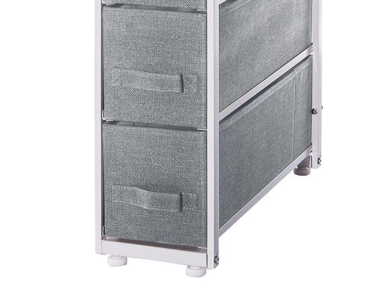 Armadio con 4 cassetti - dal design pratico - Colore screziato GRIGIO TOPO .: Amazon.it: Casa e cucina
