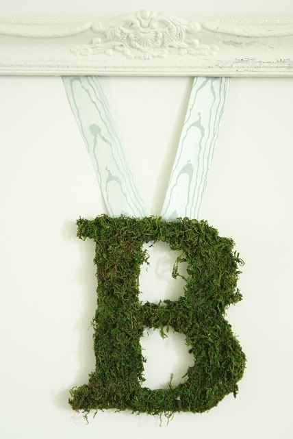 BMossy Monograms, Moss Letters, Decor Ideas, Crafts Ideas, Mossy Letters, Front Doors, Diy, Moss Covers Letters, Pottery Barn