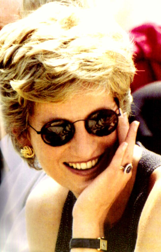Princess Diana attends a charity tennis match in Tokyo, Japan, sponsored by the British Red Cross, in 1994.