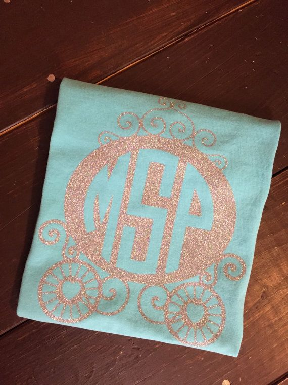 Disney Carriage Monogram Tank Disney by KrazyHeartStudios on Etsy