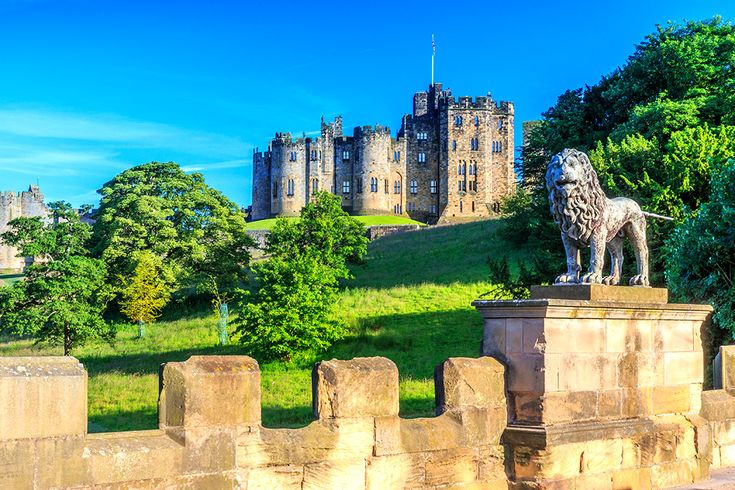 Alnwick Castle i England #alnwick #castle #england #slott