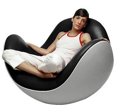 Bianco in fibra di vetro fibra di resina guscio d'uovo pigro siesta divano sedia tumbler placenta modellazione sedia a dondolo dell'unità di elaborazione(China (Mainland))