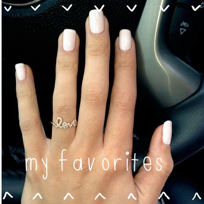 Essie Fiji nude nail polish - love ring - Heart Over Heels
