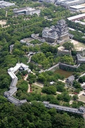 Himeji-jo castle, Japan, world heritage since 1994 #Aerial #Bird's-eye