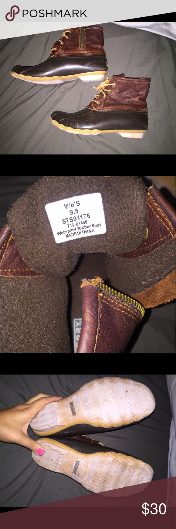 """Sperry """"Bean Boots"""" Size 9.5 Rainboots worn a few times in good condition Sperry Shoes Winter & Rain Boots"""