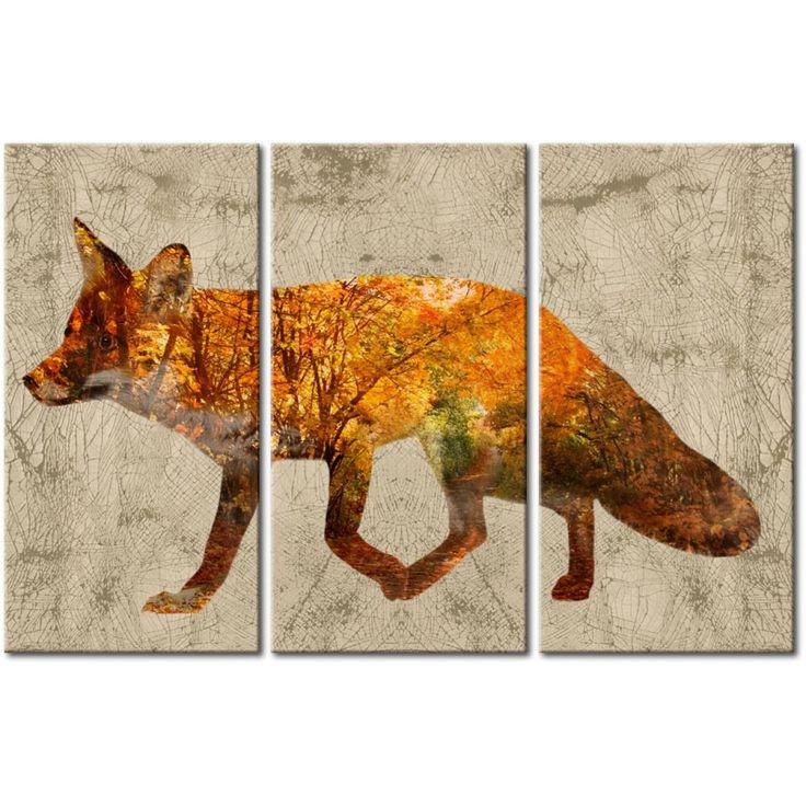 Leinwandbild Fuchs im Premium Print - Kollektion Tiere. Dank dieser Technik gewinnt die Leinwand an Struktur und Tiefe, die sich an die Ölmalerei erinnert #wandbild #wandbilder #modernewandbilder #fuchs #premium-print #tiere #artgeist