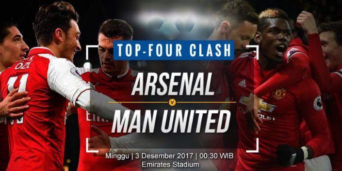 Prediksi Jitu Arsenal vs Manchester United Liga Inggris