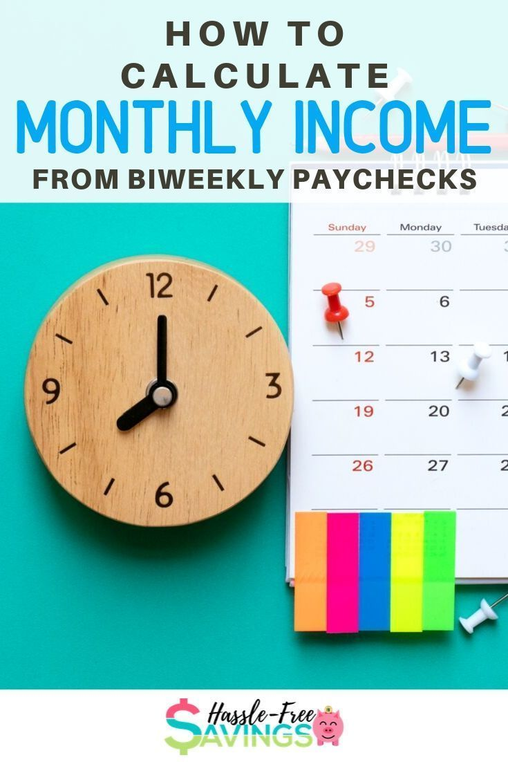 How To Calculate Monthly Income From Biweekly Paychecks Includes Paycheck Calculation As Well As Two Different Ways To Budg Budgeting Paycheck Making A Budget