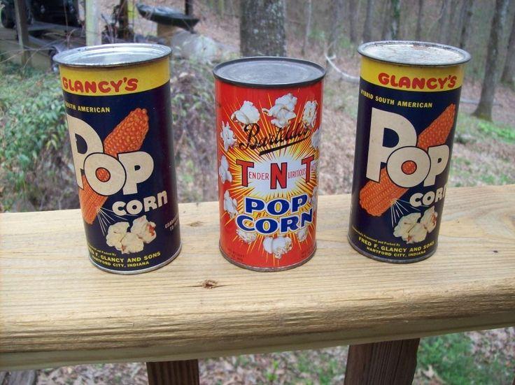 3 vintage popcorn tins barteldes tnt glancys reos