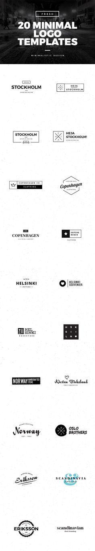 20 Minimal Logo Templates for Premium Members