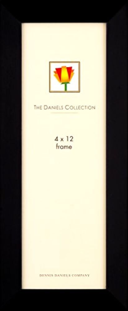 "Dennis Daniels Gallery Woods Panoramic Picture Frame, 4 x 12"", Ebony Finish #DennisDanielsCo"