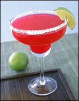 105 calories  1.5 oz. tequila  1/2 tsp. Crystal Light powdered drink mix, Raspberry Ice   5 oz. water  1 oz. lime juice   Optional: lime slice for garnish and salt or no-calorie sweetener for rim of glass
