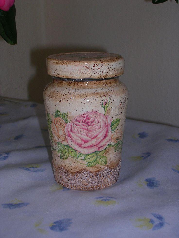 Βάζα ντεκουπάζ! Jars with decoupage!