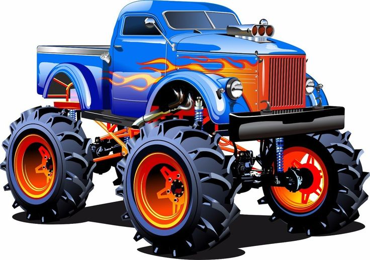 STICKERS AUTOCOLLANT VOITURE 4X4X TRUC CARS CARTOON POSTER A4 CHAMBRE GARCON