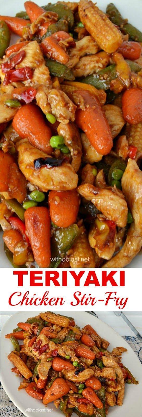 Quick, easy & perfect last minute dinner - Teriyaki Chicken Stir-Fry #chinesefoodrecipes