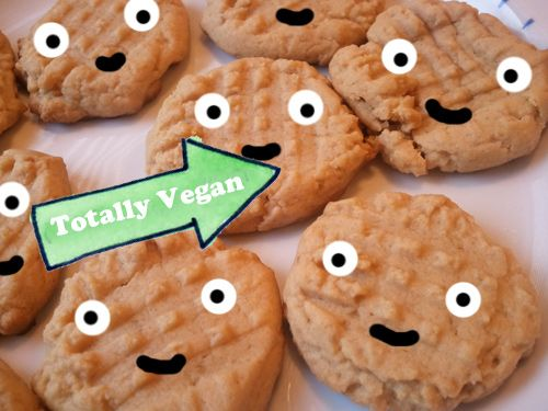 The only thing better than the smiley faces on these peanut butter cookies are that they're vegan!: Vegan Peanut Butter, Dessert Recipes, Buttery Treat, Vegan Recipes, Cookie Recipe, Butter Cookiesrecipe, Peanut Butter Cookies