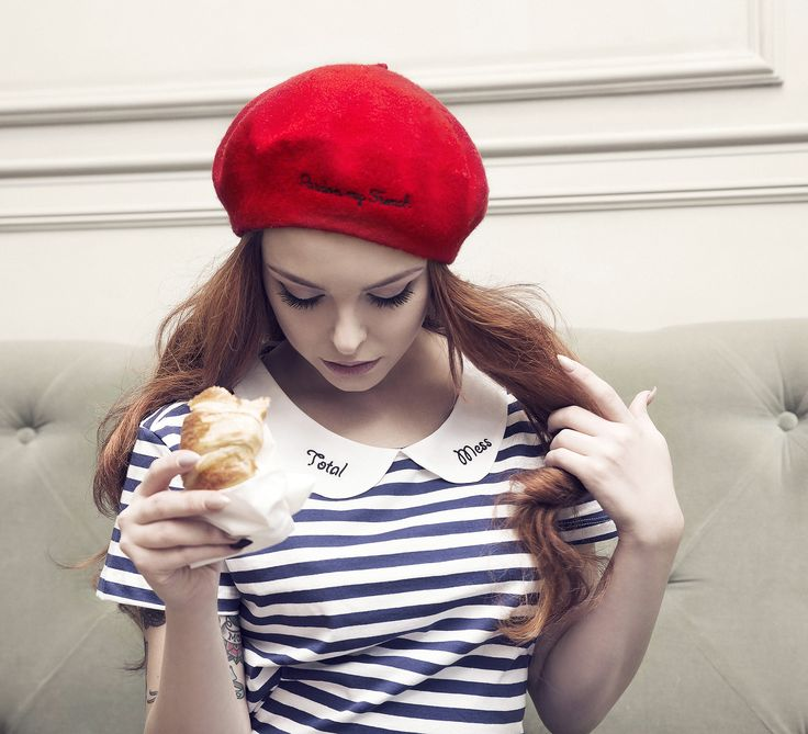 red beret Pardon my french,made in red colored wool.Beret is 100% wool and has a classic french inspired style with modern day appeal.