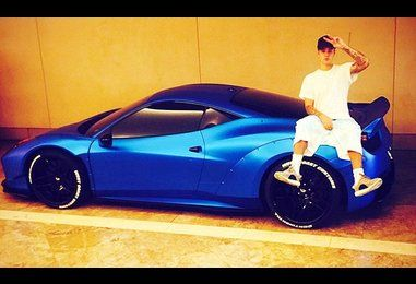 Justin Bieber 'loses' blue Ferrari 'for three weeks' after night out