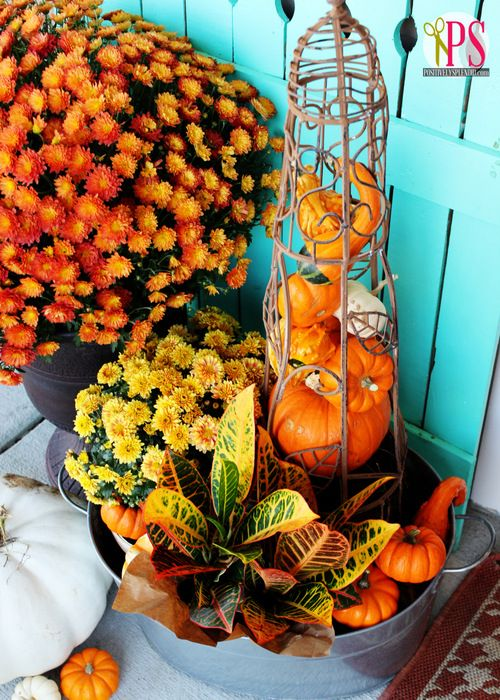 Outdoor Fall Decorating Ideas | Positively Splendid {Crafts, Sewing, Recipes and Home Decor}