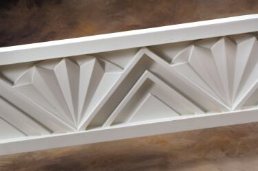 Art deco crown molding art deco movie theater small for Art deco baseboard molding