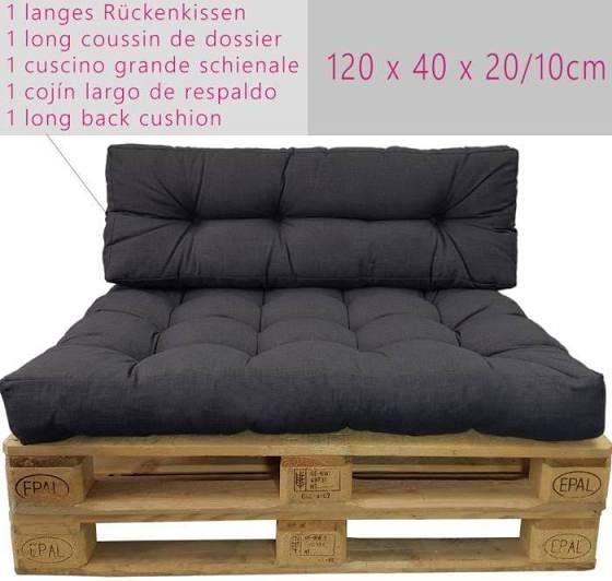 Diluma Coussin Comfort Pour Palette Europe Coussin Pour Sofa En Palette Resistant Aux Eclaboussures Pas Un Set Cou En 2020 Coussin Long Coussin Gros Coussin Canape