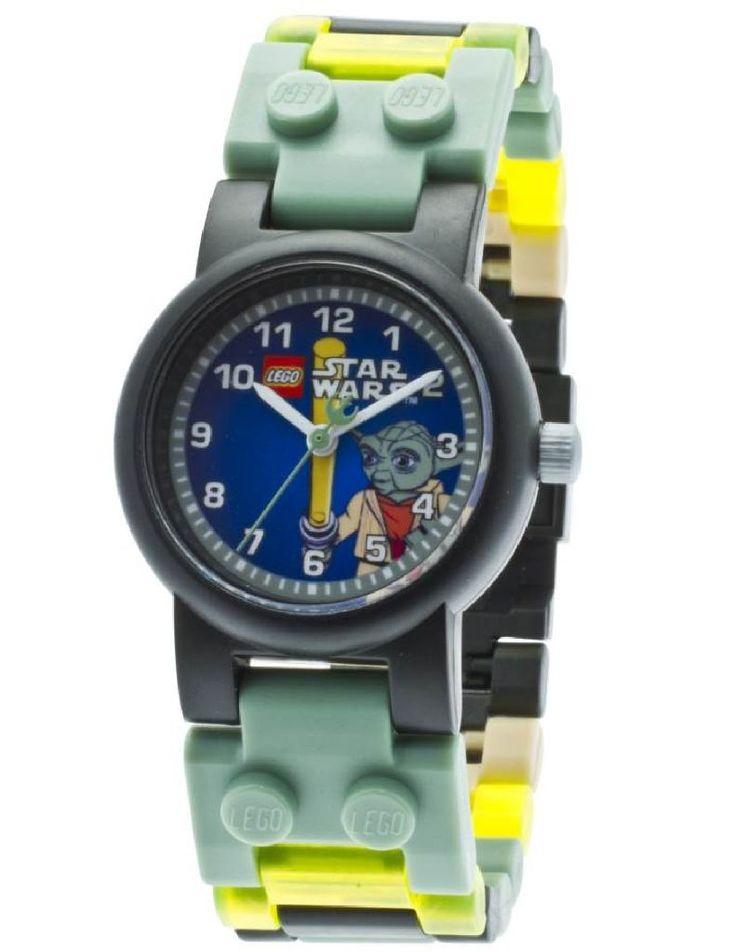 Montre Lego Star Wars Maître Yoda à retrouver sur notre site Montres et Plus pour 29,99€ #montre #geek #enfant #lego #horlogerie #starwars