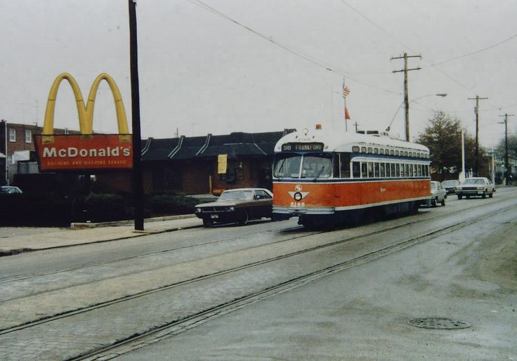 PCC trolley 2168 running in Phila. This car is now running