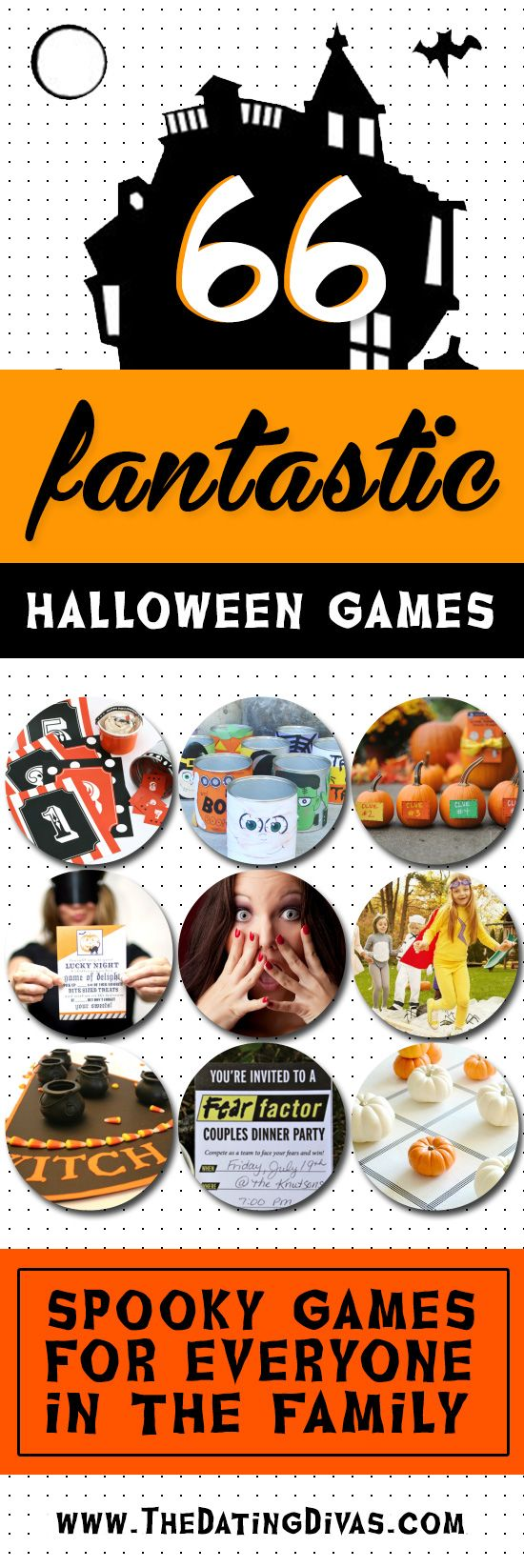 Halloween games for the whole family! YES!! I can't wait to have a Halloween party! www.TheDatingDivas.com