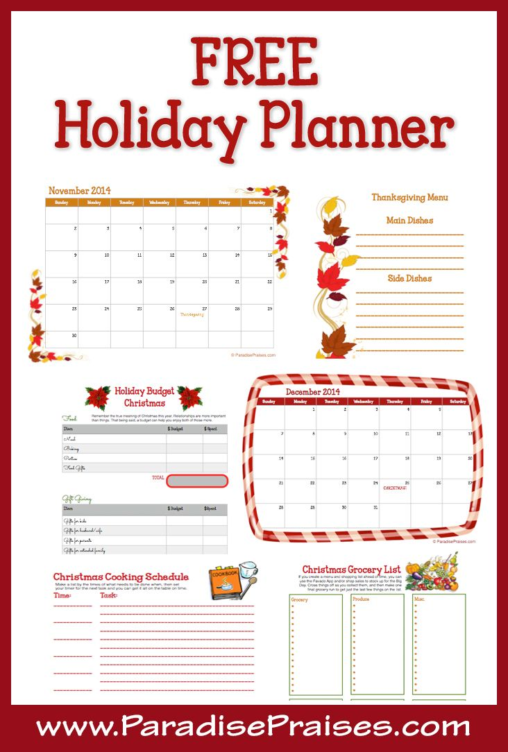 16 full color printable pages to get your organized for the holidays. Get your free printable holiday planner today!