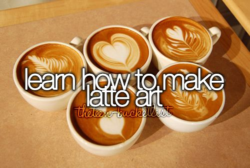 Learn how to make latte art.