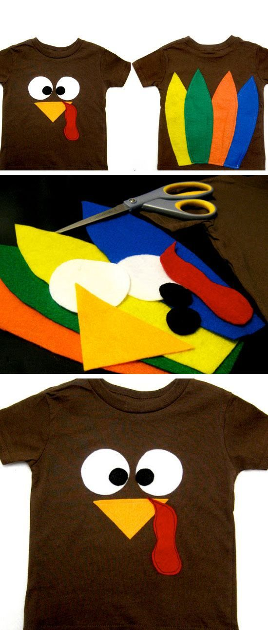 Turkey Shirt | Click for 30 DIY Thanksgiving Crafts for Kids to Make | Easy Thanksgiving Crafts for Toddlers to Make