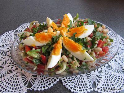 Mijn mixed kitchen: Piyaz salatası (Turkse witte bonensalade)