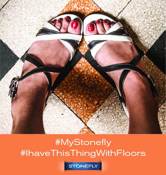 optical sandals on a floor. shoes, scarpe, sandali, pavimento. #mystonefly Ihavethisthingwithfloors