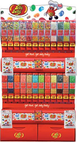 Jelly Belly Free Standing Bulk Display Candy Store Vending Machine Business Holds 24 Flavors