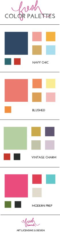 2014-2015 Color Palettes -- my apt is going to be Navy Chic. For sure.