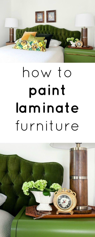 how to pain laminate furniture